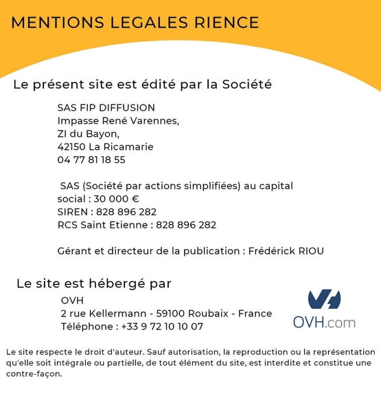 Mentions légales Rience