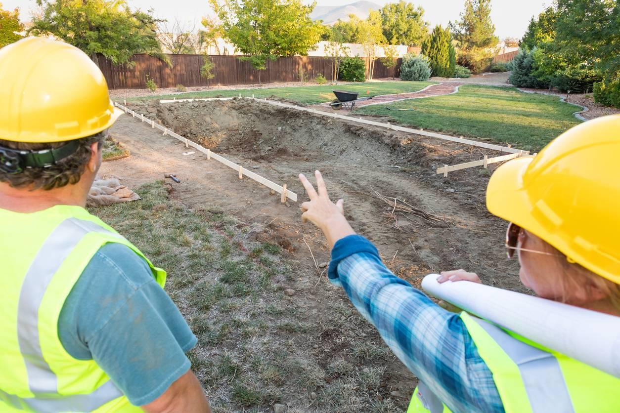 étude du sol construction piscine